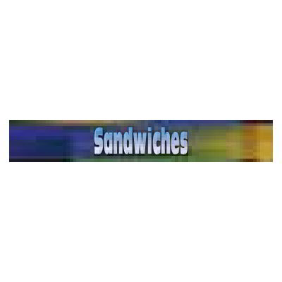 True 884017 Sign, Sandwhiches, Blue & Green, for GDM26RF