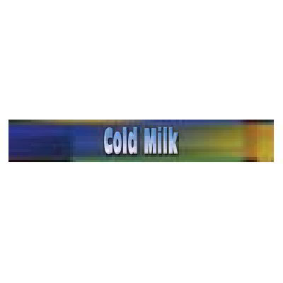 True 884123 Sign, Cold Milk, Blue & Green, for GDM41 & GDM41Sl