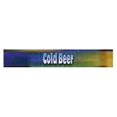 True 884139 Sign, Cold Beer, Blue & Green, for GDM41C, GDM41SL54, & GDM41SL60