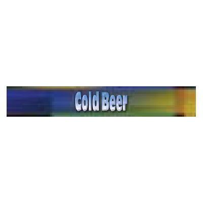 True 884295 Cold Beer Sign, Blue & Green, for GDM72 & GEM72
