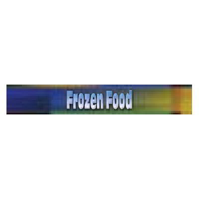 True 884471 Sign, Frozen Foods, Blue & Green, for GDM5F, GDM5FPT