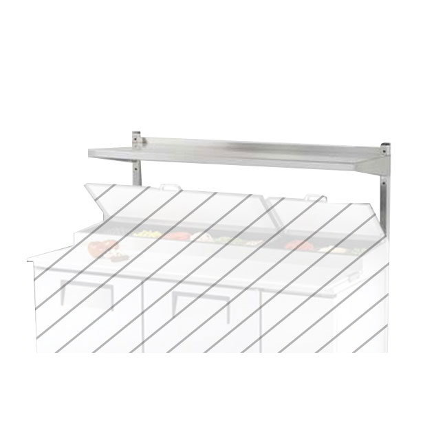 True 914978 Single Over Utility Shelf for TUC/TSSU48 & 48M, 48-3/4 in x 12 in x 33 in H