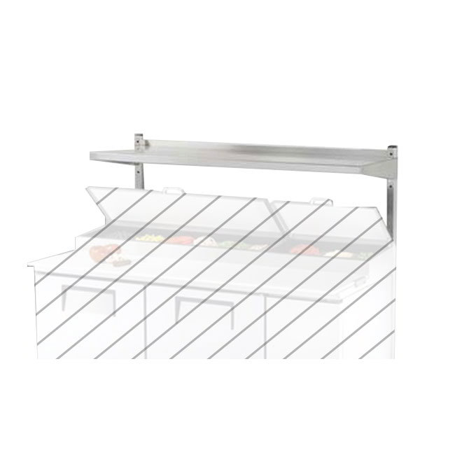 True 914980 Single Utility Shelf, 72-3/8 in x 12 in x 33 in H, SS, TUC/TSSU72/8/10/12
