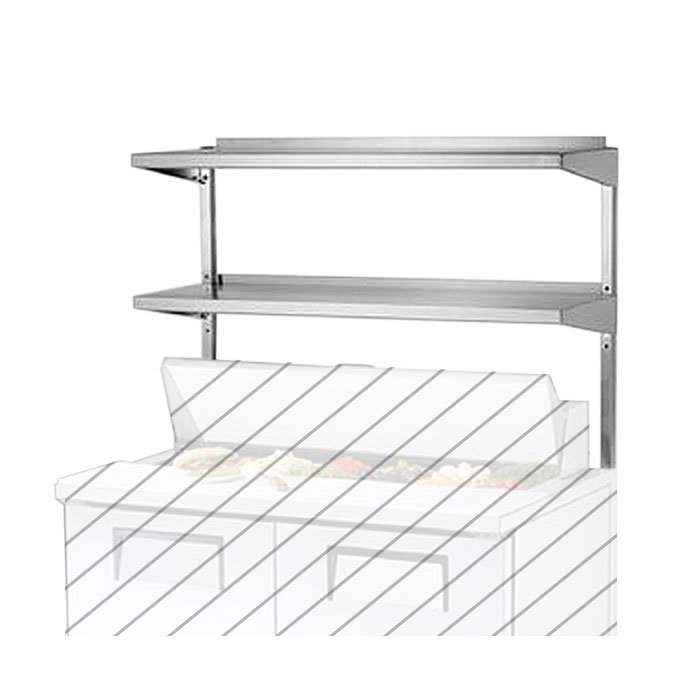 "True 914982 Double Utility Shelf, 36-3/8 x 16"" X 33""H,Stainless for TUC/TSSU36 & TUC/TSSU36M"