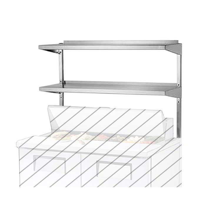 True 915015 Double Utility Shelf, 67-1/4 x 15-5/8 in x 33 in H, for TPP67, TPP67D2 & TPP67D4