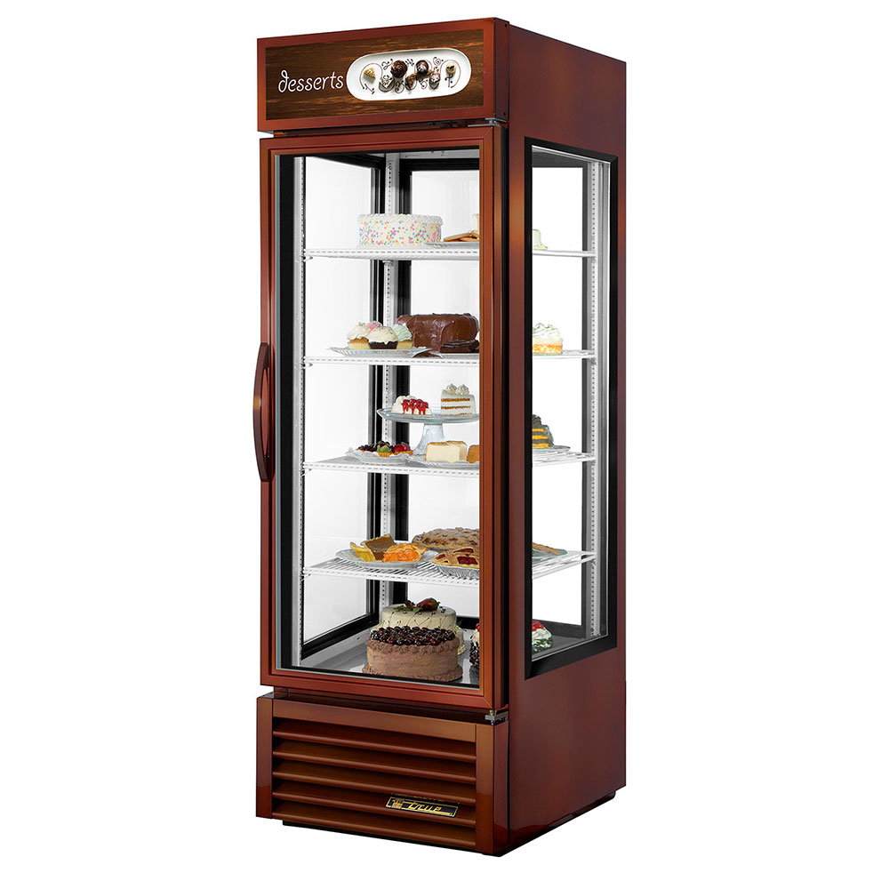 "True G4SM-23-LD 28"" Self Service Bakery Case w/ Straight Glass - (5) Levels, Bronze, 115v"