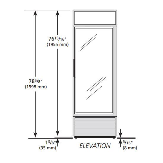 """True G4SM-23-HC~TSL01 28"""" Self Service Bakery Display Case w/ Straight Glass, (5) Levels, Black, 115v"""