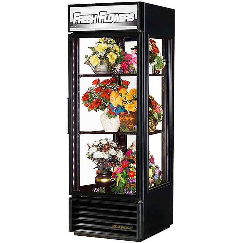 "True G4SM-23-LD 28"" Self Service Bakery Display Case w/ Straight Glass, (5) Levels, Black, 115v"