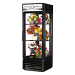 True G4SM-23FC-LD BK 1-Section Floral Cooler w/ Swinging Door, Black, 115v