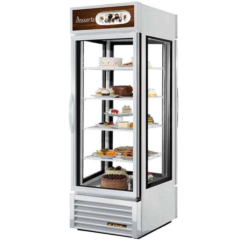 "True G4SM-23PT-LD 28"" Self Service Bakery Case w/ Straight Glass - (5) Levels, White, 115v"