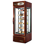 "True G4SM-23-RGS-LD BRZ 28"" Self Service Bakery Case w/ Straight Glass - (5) Levels, Bronze, 115v"