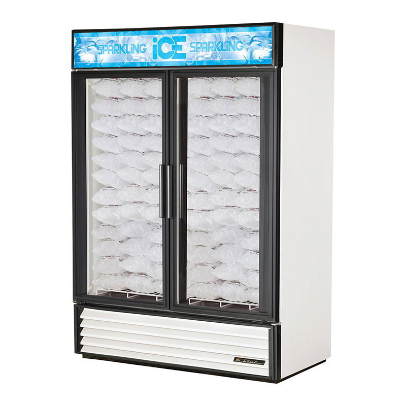 True GDIM-49NT-LD WHT Indoor Ice Merchandiser w/ (117) 8-lb Bag Capacity, LED Lighting, White, 115v