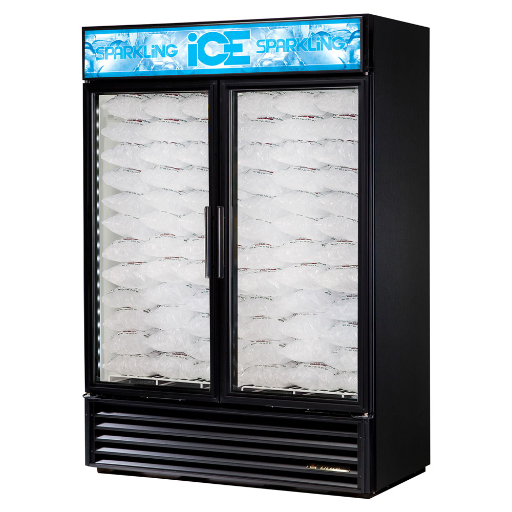 True GDIM-49NT-LD Indoor Ice Merchandiser w/ (117) 8-lb Bag Capacity, LED Lighting, Black, 115v