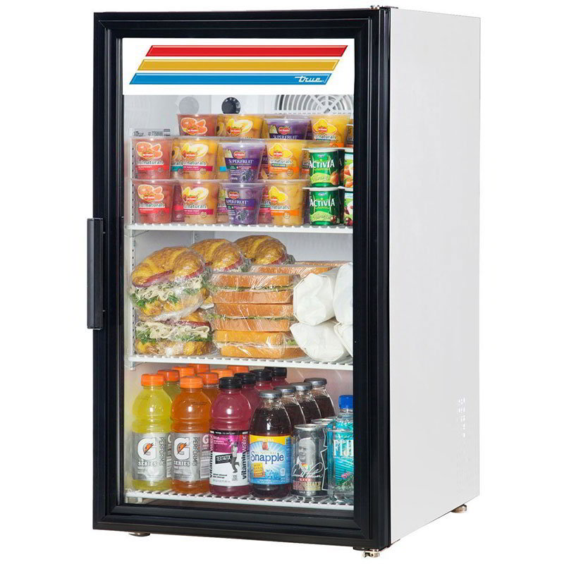 "True GDM-06-LD 20"" Countertop Refrigerator w/ Front Access - Swing Door, White, 115v"