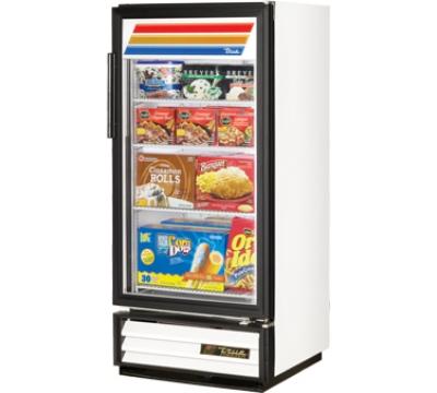 True GDM-10F Freezer Glass Door Merchandiser White 10-cu ft Restaurant Supply