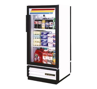 "True GDM-10PT-LD 25"" One-Section Refrigerated Display w/ Swing Door, Bottom Mount Compressor, 115v"