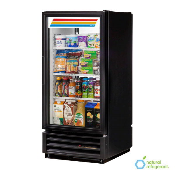 "True GDM-10PT-LD BK 25"" One-Section Refrigerated Display w/ Swing Door, Bottom Mount Compressor, Black, 115v"