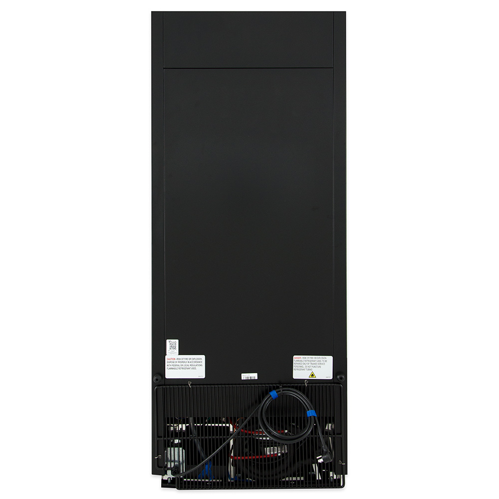 """True GDM-12-HC-LD 25"""" One-Section Glass Door Merchandiser w/ Swing Door, Black, 115v"""