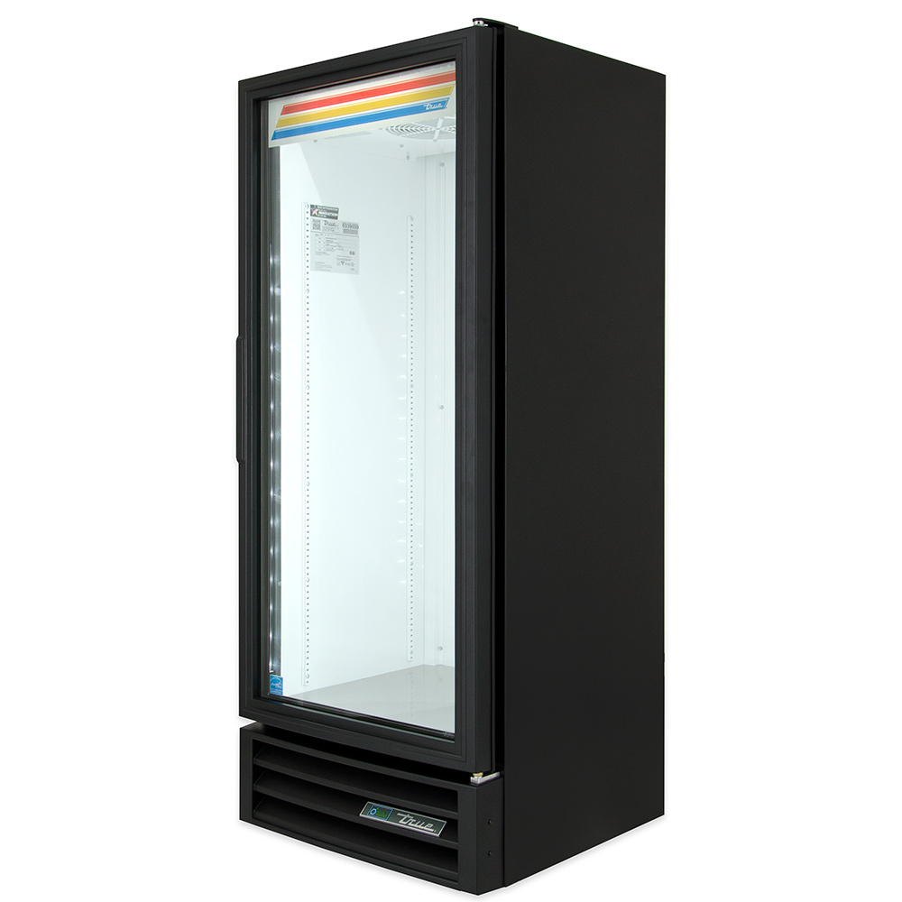 "True GDM-12-LD BK 25"" One-Section Refrigerated Display w/ Swing Door, Bottom Mount Compressor, Black, 115v"