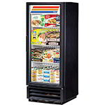 "True GDM-12F-LD 24"" One-Section Display Freezer w/ Swinging Door - Bottom Mount Compressor, Black, 115v"