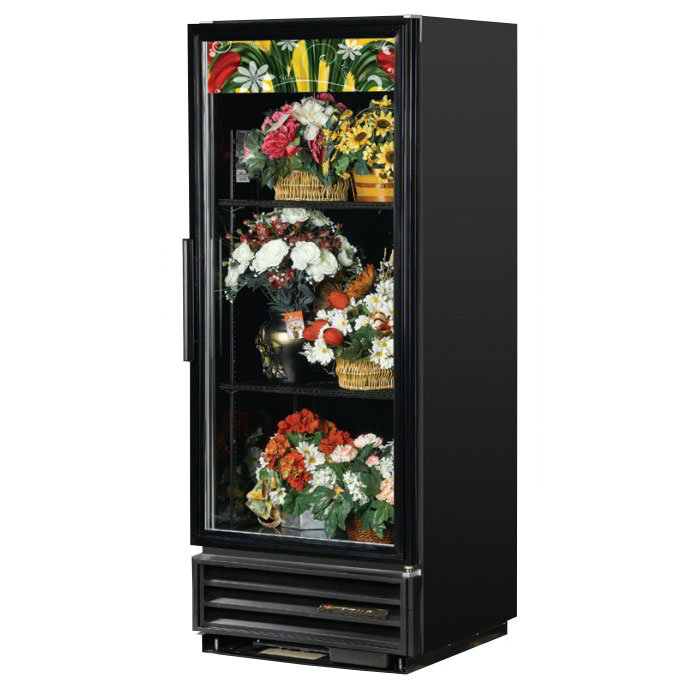 True GDM-12FC-HC-LD 1-Section Floral Cooler w/ Swinging Door - White, 115v