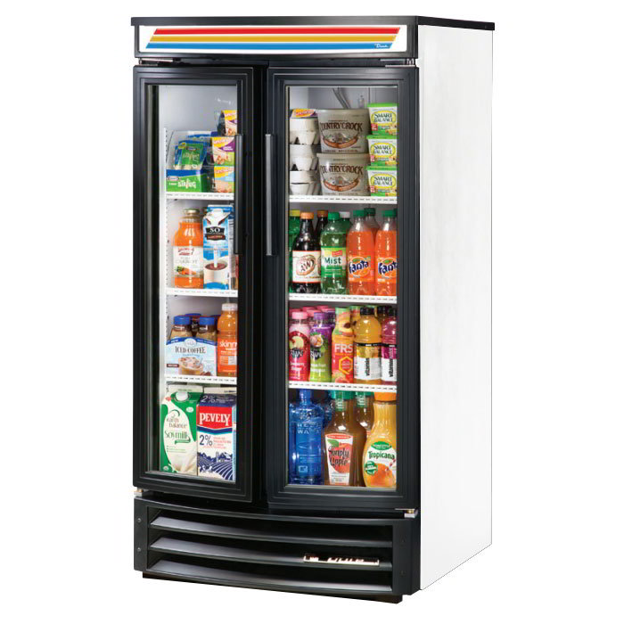 "True GDM-14RF-LD 31"" Two-Section Refrigerated Display w/ Swing Door, Bottom Mount Compressor, 115v"