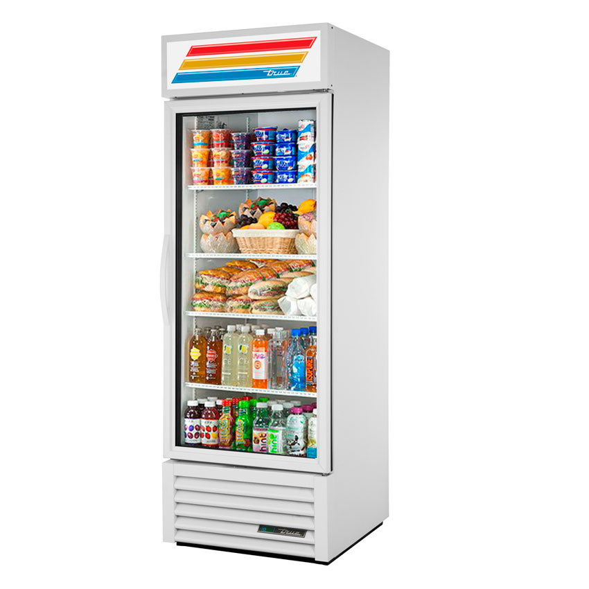 "True GDM-23-LD WHT 27"" One-Section Refrigerated Display w/ Swing Door, Bottom Mount Compresser, White, 115v"