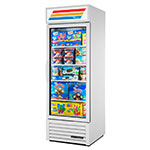 "True GDM-23F-HC~TSL01 27"" White One-Section Display Freezer w/ Swinging Door - Bottom Mount Compressor, 115v"