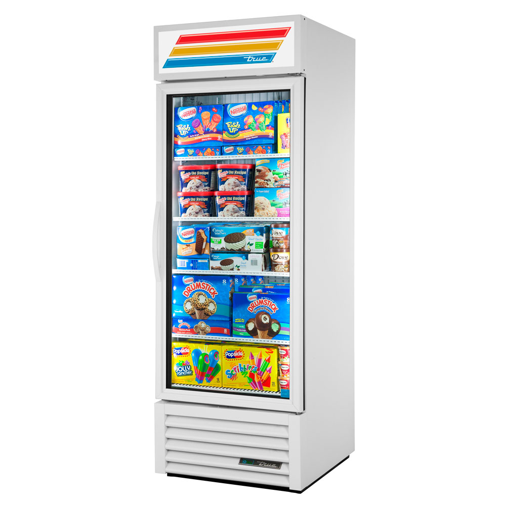 "True GDM23F-LD 27"" One-Section Display Freezer w/ Swinging Door - Bottom Mount Compressor, 115v"