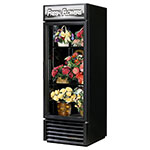 True GDM-23FC-HC-LD 1-Section Floral Cooler w/ Swinging Door - Black, 115v
