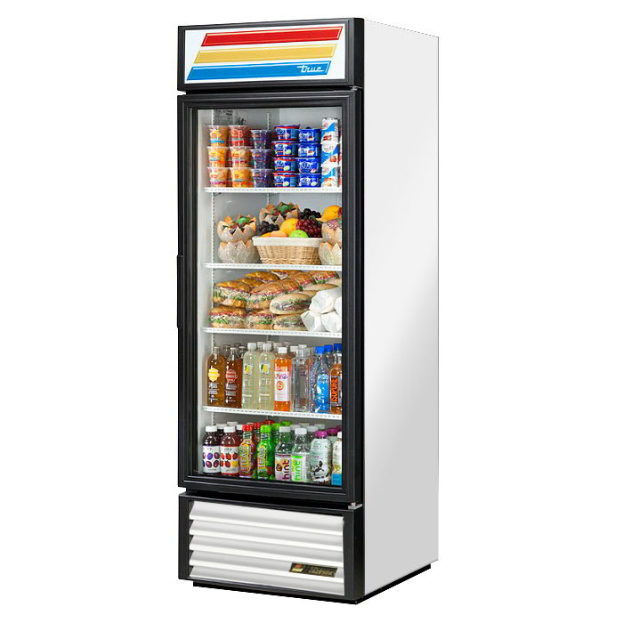 "True GDM-23-LD SS 27"" One-Section Refrigerated Display w/ Swing Doors, Bottom Mount Compressor, Stainless, 115v"