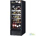 "True GDM-23W-LD BK 27"" One Section Wine Cooler w/ (1) Zone - 106-Bottle Capacity, Black, 115v"