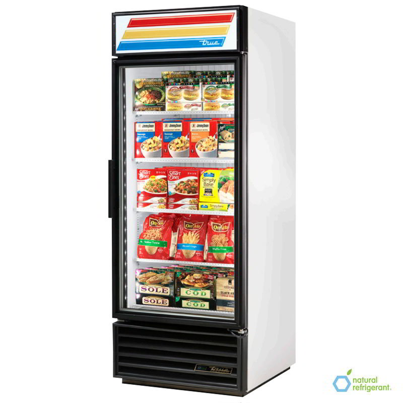 "True GDM-26-LD 30"" Refrigerated Merchandiser - 1-Door, 4-Shelf, LED, 26 cu ft, Stainless"