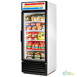 "True GDM-26F-LD WHT 30"" One-Section Display Freezer w/ Swinging Door - Bottom Mount Compressor, White, 115v"
