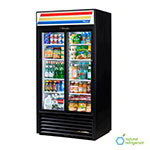 "True GDM-33-LD 40"" Two-Section Refrigerated Display w/ Sliding Doors, Bottom Mount Compressor, 115v"