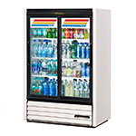 "True GDM-33CPT-LD WHT 40"" Two-Section Refrigerated Display w/ Sliding Doors, Bottom Mount Compressor, White, 115v"