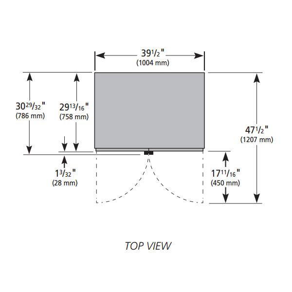 "True GDM-35F~TSL01 39.5"" Two-Section Display Freezer w/ Swinging Doors - Bottom Mount Compressor, White, 115v"