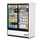 "True GDM-41SL-60-LD WHT 47"" Two-Section Glass Door Merchandiser w/ Sliding Doors, White, 115v"