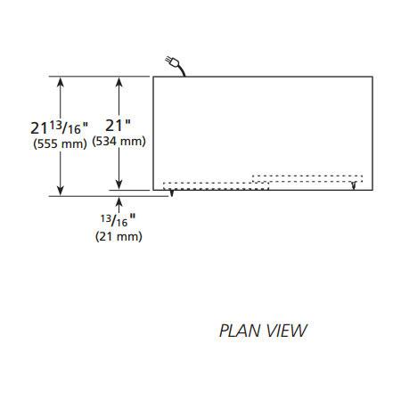 """True GDM-41SL-60-LD WHT 47"""" Two-Section Glass Door Merchandiser w/ Sliding Doors, White, 115v"""