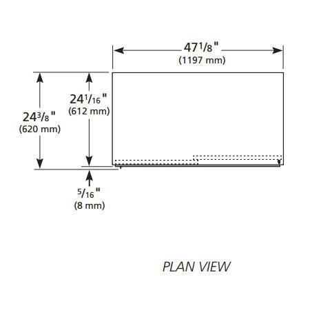 """True GDM-41SL-HC-LD 47"""" Two-Section Glass Door Merchandiser w/ Sliding Doors, White, 115v"""