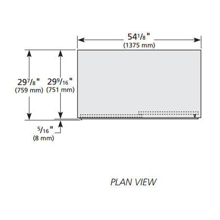 """True GDM-47-HC-LD 54"""" Two-section Glass Door Merchandiser w/ Sliding Doors, Whilte, 115V"""
