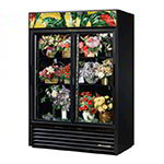 True GDM-47FC-HC-LD 2-Section Floral Cooler w/ Sliding Door - Black, 115v