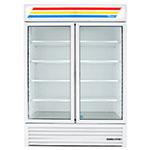 """True GDM-49-HC~TSL01 54"""" Two-Section Glass Door Merchandiser w/ Swing Doors, White, 115v"""