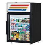 "True GDM-5-LD 24"" Countertop Refrigeration w/ Front Access - Swing Door, Black, 115v"