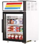 "True GDM-5F-LD 24"" Countertop Freezer Merchandiser - 1-Door, 2-Shelf, 5 cu ft, LED, Black"