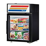 "True GDM-5F-LD BK 24"" Countertop Freezer Merchandiser - (1) Door, (2) Shelf, 5 cu ft, LED, Black"