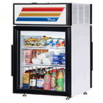 "True GDM-05PT-LD 24"" Countertop Refrigerator w/ Pass Thru Access - Swing Door, White, 115v"