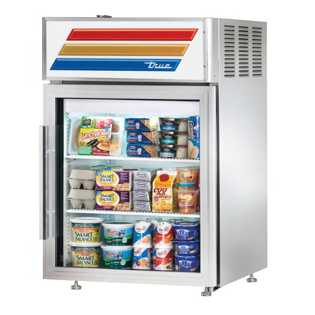 "True GDM-05-S-LD 24"" Countertop Refrigerator w/ Front Access - Swing Door, Stainless, 115v"