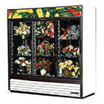 True GDM-69FC-LD WHT 3-Section Floral Cooler w/ Sliding Door - White, 115v
