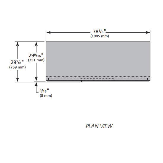 True GDM-69FC-HC-LD 3-Section Floral Cooler w/ Sliding Door - Black, 115v